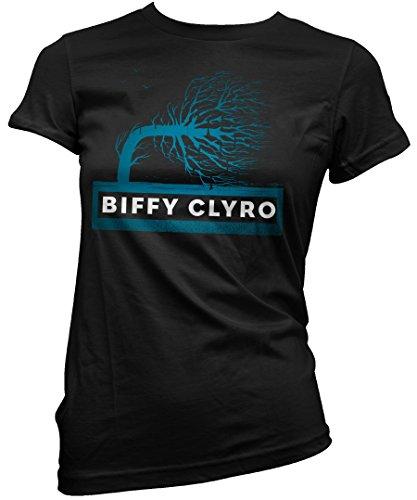 T-shirt Donna Biffy Clyro - Maglietta 100% cotone LaMAGLIERIA,M, nero