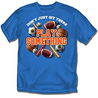 Play something multi sport youth royal t for Simply for sports brand t shirts