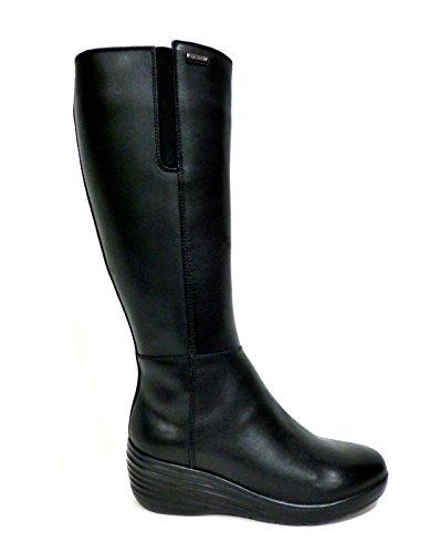 Stonefly 105262 stivale donna con gamba larga e zeppa in pelle nero n° 38