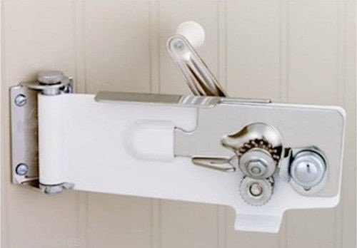 Swing-a-way Wall Mount Can Opener - Magnetic Lifter - Swing Away - New - White (Can Opener Swing Away compare prices)