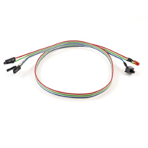 "Desktop Pc Mainboard Atx Power Reset Hdd Led Indicator Switch Cable 24.4"" Long"
