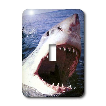 lsp_749_1 Sharks - Great White - Light Switch Covers - single toggle switch (Shark Light Switch compare prices)