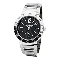 Bvlgari Bvlgari Black Dial Stainless Steel Automatic Mens Watch BB42BSSDAUTO by Bvlgari