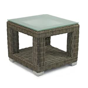 Palisades End Table Base With Tempered Glass