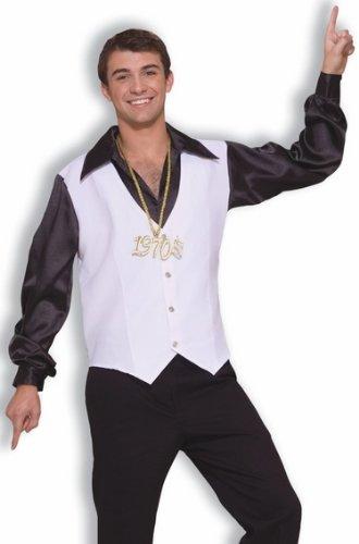 Mens 70s Party Disco Shirt Vest Adult Halloween