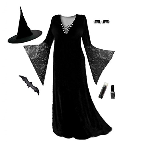 Women's Black Witch Economy Plus Size Supersize Halloween Costume Kit