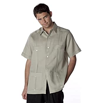 short sleeve Linen Guayabera shirt for men.