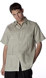 short sleeve Linen Guayabera shirt for men.