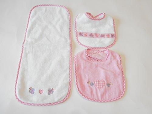 Baby Essentials 2 Bib& Burp Cloth Pink - 1