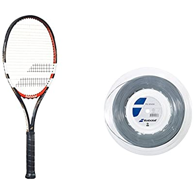 Babolat Pure Control 95 Gt Un strung Racquet and Pro Xtreme X 200M String Combo Pack Grip: 4.375