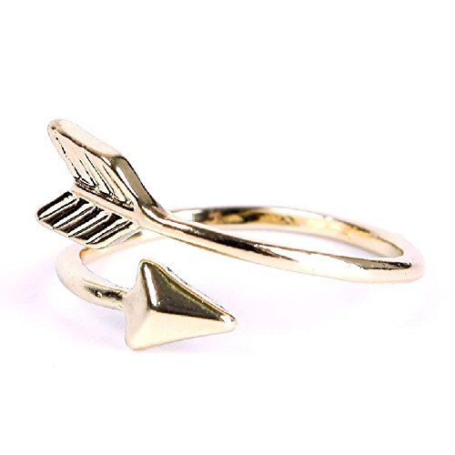 New Women Girl Gold Silver Fashion Adjustable Arrow Open Knuckle Ring Jewelry Gold