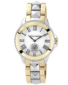 Vince Camuto Women's VC/5049SVTT Two-Tone Swarovski Crystal-Accented Bracelet Watch