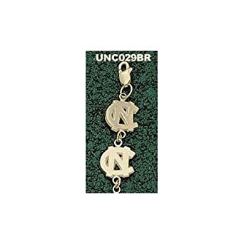North Carolina Tar Heels NC 5 16 7 Bracelet - 14KT Gold Jewelry by Logo Art