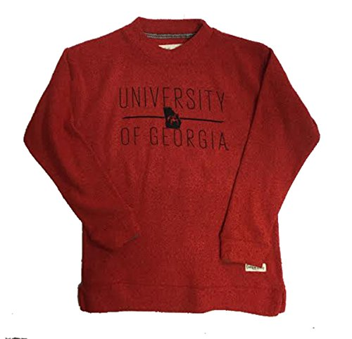 Press Box University Of Georgia Comfy Terry Crew Sweatshirt-xxl (Press Box Red compare prices)
