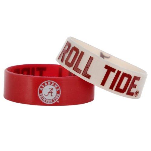 NCAA Alabama Crimson Tide Bulky Bandz Bracelet 2-Pack