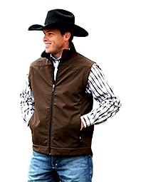Cinch Western Vest Mens Bonded Conceal Zip Pocket 3XL Brown MWV105801X