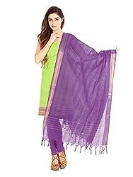 Green Zari Work Cotton Unstitched Fancy Unstitched Dress Material