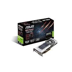 Asus Nvidia GeForce GTX Titan 6GB GDDR5 Graphics Card (PCI Express 3.0, HDMI, DVI-I, DVI-D, Display Port, 384 Bit)