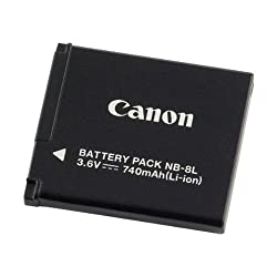 Canon NB-8L Li-Ion Battery Pack for Canon A3100IS and A3000IS Digital Cameras - Retail Packaging