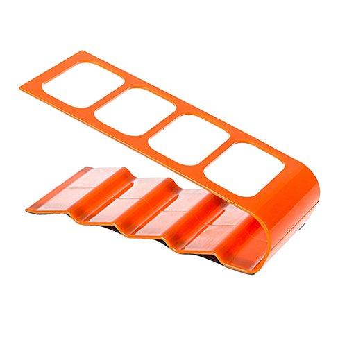 DVD TV Remote Control CellPhone Stand Holder Storage Caddy Organizer - Orange, 34x10cm (Tv And Appliance compare prices)