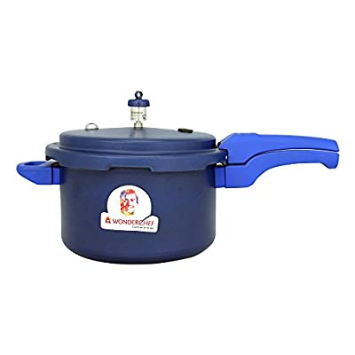 Wonderchef Health Guard Aluminium Pressure Cooker, 5 Litres, Blue