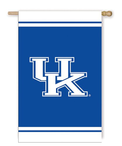 University of Kentucky Wildcats Fiber Optic House Flag with Wood Pole at Amazon.com