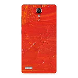 Delighted Orange Paint Texture Back Case Cover for Redmi Note Prime