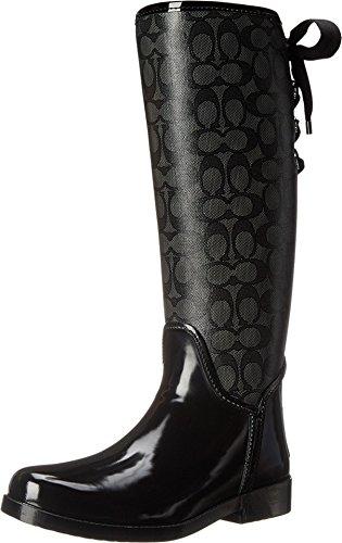 Coach Tristee Signature C Women's Rubber Rainboots Boots Black Size 7