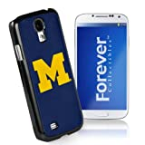 Forever Collectibles NCAA Michigan Wolverines Team Logo (Black Borders) Hard Samsung Galaxy S4 Case