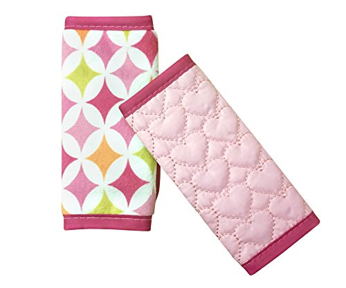 Nuby Quilted Strap Covers, Pink, Reversible, Infant Car Seat Strap Covers, Baby Seat Belt Covers, Stroller Accessories, Head Support, Shoulder Pads (Car Seat Strap Covers For Infants compare prices)