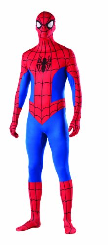 Spiderman 2nd Skin XL Superhero Full Body Suit Fancy Dress Costume Outfit Party