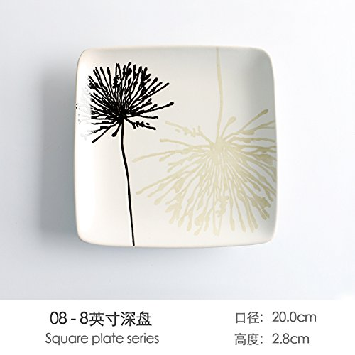 creative-hand-painted-ceramic-plates-japanese-home-plate-breakfast-tray-pasta-dishes-in-the-disc-tra