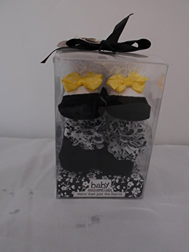 Baby Essential 2 Pairs of Socks W Yellow Dotted Bow