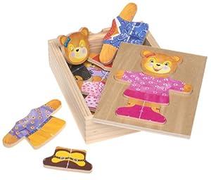 Melissa & Doug Bear Dress Up Wooden Puzzle