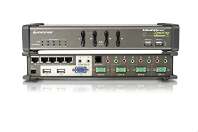 IOGear MiniView Symphony Multi-function KVM Switch with Cables GCS1774
