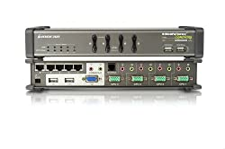 IOGEAR 4-Port MiniView Symphony Multi-function KVM Switch with Cables GCS1774