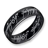 Lord of the Rings Titanium Blackline The one Ring - Size Z+2