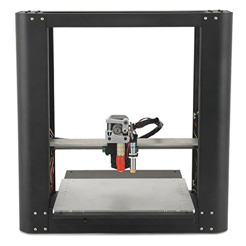 the printrbot plus model 1412 fully assembled 3d fused filament fabrication printer with metal frame has an open platform for fabricating parts up to 10 x