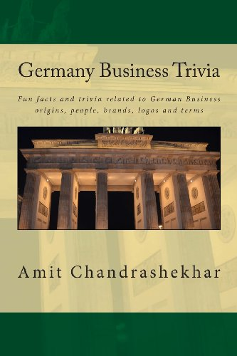 Germany Business Trivia: Fun Facts And Trivia Related To German Business Origins, People, Brands, Logos And Terms (Volume 1)