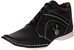 Footista Mens Black Synthetic Boots - 6 UK