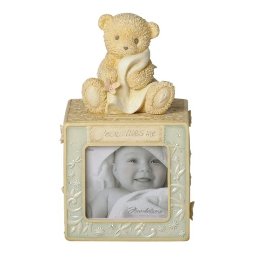 Enesco Foundations Baby Block Photo Bank - 1