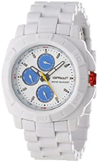 Sprout Unisex ST/3800BLWT White Corn Resin Bracelet  Multi-Function Watch