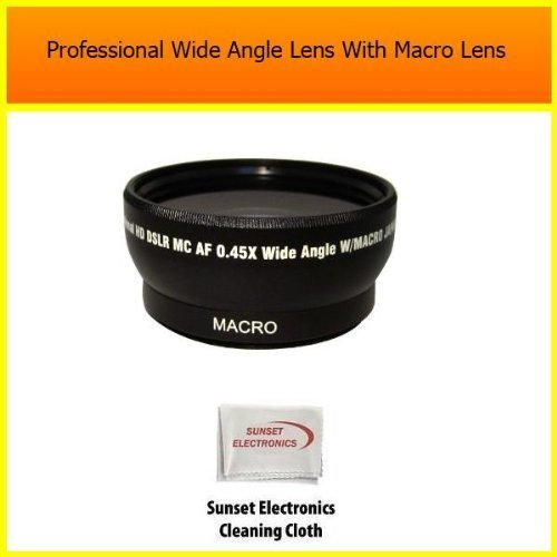 Extra large Wide Angle Lens With Macro lens For The Panasonic DMC-FZ18 FZ28, Digital Camera Tube Adapter Included