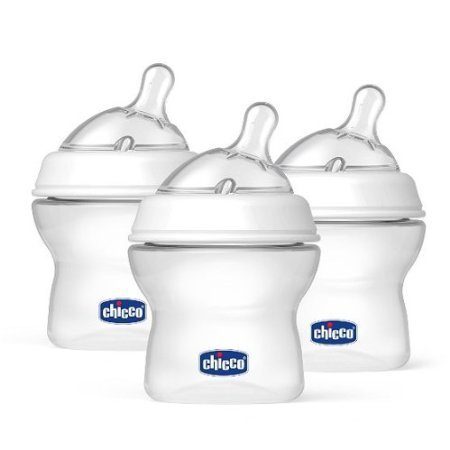 Chicco NaturalFit BPA FREE Baby Bottles and Nipples (5-Ounce Bottles and Newborn Flow Nipples (3-Pack)) - 1