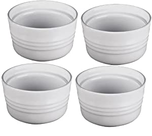 Le Creuset Stoneware Set of 4 Stackable Ramekins, 7-Ounce, White by Le Creuset
