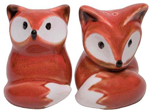 Cute Red Fox Salt & Pepper Shaker Set