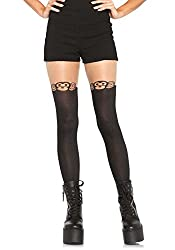 Leg Avenue Women's Monkey Business Pantyhose, Black, One Size