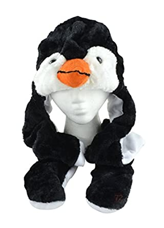 Cute Penguin Hat -Animal Trapper Hat with Fur and Ear Flaps
