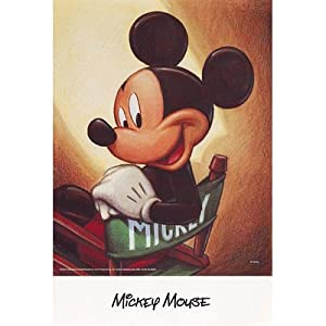Walt Disney Mickey Mouse Director's Chair Art Print Poster