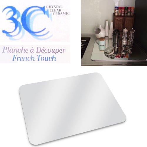 Planche d couper en verre tremp 40 x 50 cm sans for Miroir adhesif a decouper
